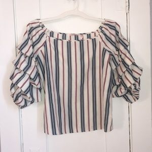 Tempted LA Ruffles Blouse
